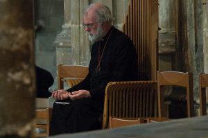 Man prayer in church