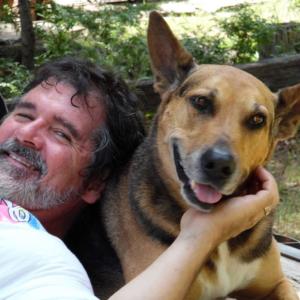 Bo Cox and dog