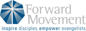 """Forward Movement logo with tagline: """"Inspire Disciples. Empower Evangelists."""""""
